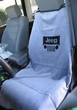 BRAND NEW Jeep Gray Seat Towel Cover With Jeep Wrangler Grille Logo