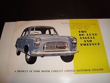 1959 Ford De Luxe Anglia VF Condition Brochure Car Vehicle Full Color Foldout