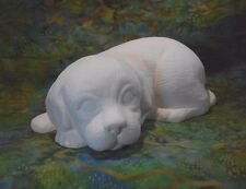 Sleepy Puppy (A68) Ceramic Bisque Ready to Paint