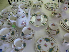 Huge Royal Albert England Berkeley Coffee Tea Set - 49 pieces