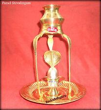 Parad Shivalingam / Parad Shivling With Brass Yoni & Kalash Stand - 200 gm