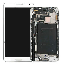 New LCD Screen Digitizer w/ Frame Assembly for Samsung Galaxy Note 3 N900A White