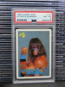 1990 Classic WWF Wrestling Ultimate Warrior #127 PSA 8 O257