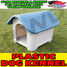PLASTIC STRONG DURABLE DOG PUPPY PET DELUXE KENNEL HOUSE INDOOR OUTDOOR SHELTER