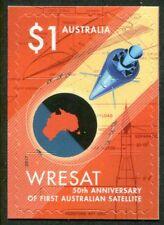 WRESAT - 50th ANNIV FIRST AUSTRALIAN SATELLITE 2017 - MINT EX-BOOKLET S/A (G129)
