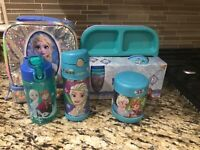 **Frozen, Thermos FUNtainer Insulated Sports Bottle, Food Jar, and Lunch Bag**
