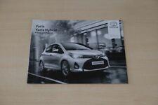 201899) Toyota Yaris + Hybrid - Preisliste & Extras - Prospekt 08/2014
