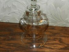 Home Interiors Large Glass Votive Globe Sconce Small Ruffled Etched Top