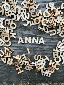 250 pcs+ MIX (n1) of WOODEN LETTERS PERSONALISED WEDDING SCRAPBOOKING CRAFT