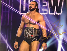 More details for signed drew mcintyre 8x10 promo - autographed wrestling wwe nxt coa