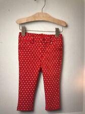 NEW Baby GAP Girl 6-12M White Stars Red Pull-On Pant Legging