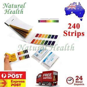 240 Strips x PH Tester Litmus Paper Urine Saliva Acid Alkaline Aquarium Pool Spa