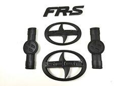 4X Matte Black Scion GT86 FR-S Front Hood Rear Side Badge Emblem FRS F/R 2011-16