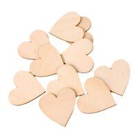 laser cut wood crafts blank shape WOODEN PRIMITIVE HEARTS Shapes 2.5cm x30