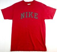 Vintage Nike Men's Spell Out Red T-Shirt Size Medium