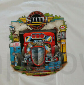 L California Old Time Hot Rod Garage For Coupe Ready To Cruise Size LARGE.