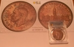 1939 CANADA DOLLAR PCGS MS 62 WITH TRUVIEW COLOR PHOTO    BCS/903
