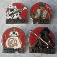 Star Wars The Force Awakens Lanyard Starter Disney Pin Make a Set Lot