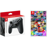 Nintendo Switch Pro Wireless Controller (HACAFSSKA) & Mario Kart 8 Bundle