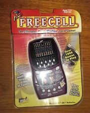 FREECELL MCA Entertainment Battery Powered Handheld Travel Card Game~Full Color