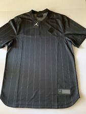 Air Jordan Practice Baseball Jersey Pinstripe Black 23 Ah9909-010 Size M Nwt $90