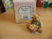 VINTAGE BOXED retired cherished teddies TEDDY BEAR robert 1995 boy with bucket