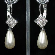 Leverback Crystal Acrylic Costume Earrings