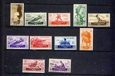 Italy 1943 Sc.331-341 MNH