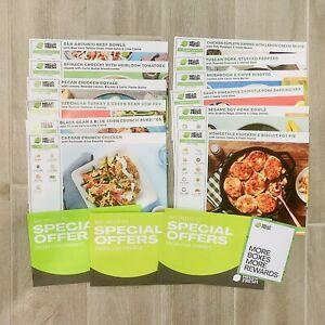 Hello Fresh 12 Recipe Cards + 3 Special Offer Envelopes With Extras Inside