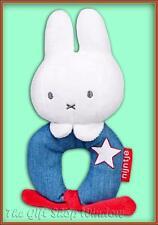 GENUINE MIFFY PLUSH LOOP RING RATTLE - DENIM  BLUE - BABY GIFT SOFT TOY 0+ - NEW
