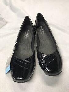NWOB Comfort Plus by Predictions Black Faux Patent Leather Shoes  SZ 10W