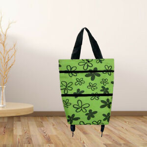 Shopping Cart Trolley Rolling With Wheeled Food Organizer Grocery Cart