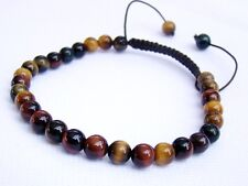 Natural Gemstone Men's Shamballa bracelet all 6mm TIGER EYE beads