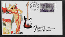 1954 Fender Stratocaster & Pin Up Girl ad Featured on Collector's Envelope *A206