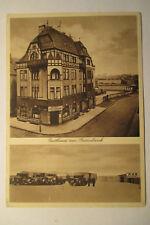 Ansichtskarte Bielefeld Gasthaus Rasenbank mit RKB Autohof LKW Laster 1938