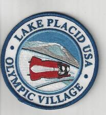 Lake Placid USA Olympic Village Souvenir Adirondack Patch Bobsled