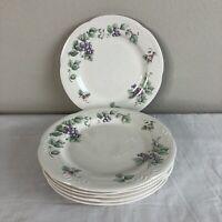 """Pfaltzgraff Grapevine Dinnerware Set Dinner Plates China Set of 6 10.5"""" NO CHIPS"""