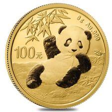 2020 8 gram Chinese Gold Panda 100 Yuan .999 Fine BU (Sealed)