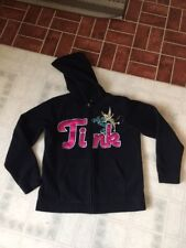 Disney Tinker Bell Tink Embroidered Full Zip Fleece Hoodie Sweatshirt Sz Small