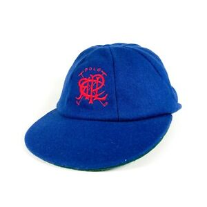 VTG Polo Scribble Ralph Lauren Made In England Hat 8 Panel Cap 1992 Wool 7 1/4