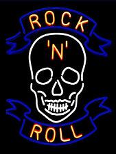 Neon Print Rock N Roll Retro metal Aluminium Vintage Sign Bar Pub Club Man Cave