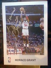 HORACE GRANT  HAND SIGNED CARD NBA BASKET PLAYER