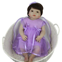 Fashion Romper Dress Headband for 22''-23'' Reborn Baby Girl Dolls Clothes