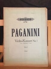 Paganini Concerto pour violon n°1 opus 6 partition piano Flesch Peters 1991