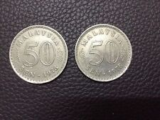 MALAYSIA  50sen coin x 2pcs  1978   Parliament series #1