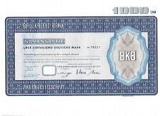 Bau Kredit Bank AG 1000DM Düsseldorf 1970