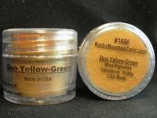 MICA~PIGMENT~TAXIDERMY~PAINT~FISH~TROUT~BASS~#1686~LOOSE POWDER~RMC~YELLOW GREEN