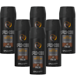 Deo Axe Dark Temptation 6 x 150ml Deospray Deodorant Bodyspray Herren