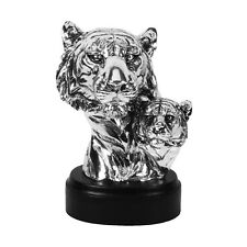 Modern Silver Tiger Sculpture  / Figurine / Ornament.New & Boxed.