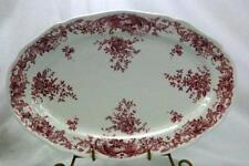 """Villeroy And Boch Valeria Red Oval Platter Red Backstamp 14 1/2"""""""